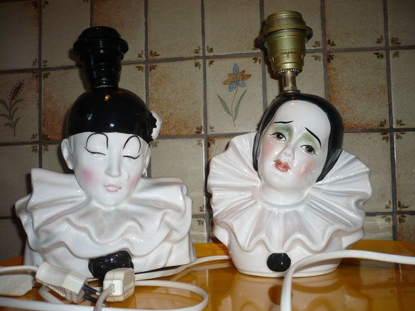 Lampes de chevet : Pierrot et Colombine 40 Reims (51)