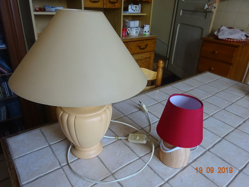 LOT DE 2 LAMPES DE CHEVET  8 Le Petit-Quevilly (76)