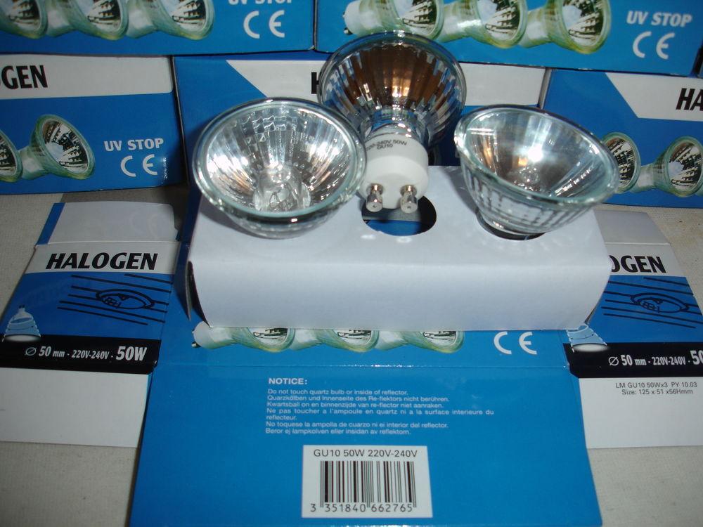 Lampes Halogène neuves  GU10 50W  10 Joinville-le-Pont (94)