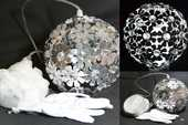 2 lampes suspension boule en cristal et aluminium 40 Nemours (77)