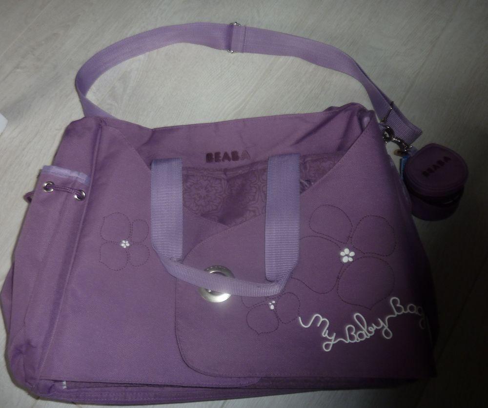 sac à langer beaba violet parme my baby bag fleur fille tapi 10 Bonnelles (78)