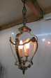 Lanterne, lustre en bronze et verre Décoration