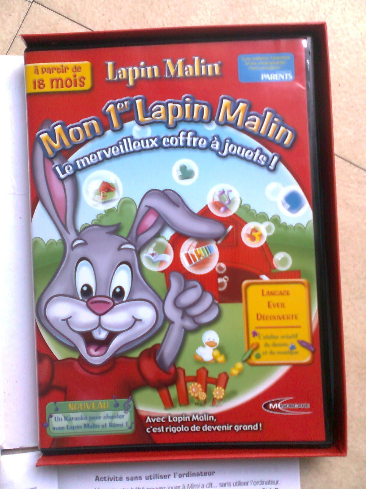 MON 1er LAPIN MALIN - 18 mois - et + ...zoe 12 Martigues (13)