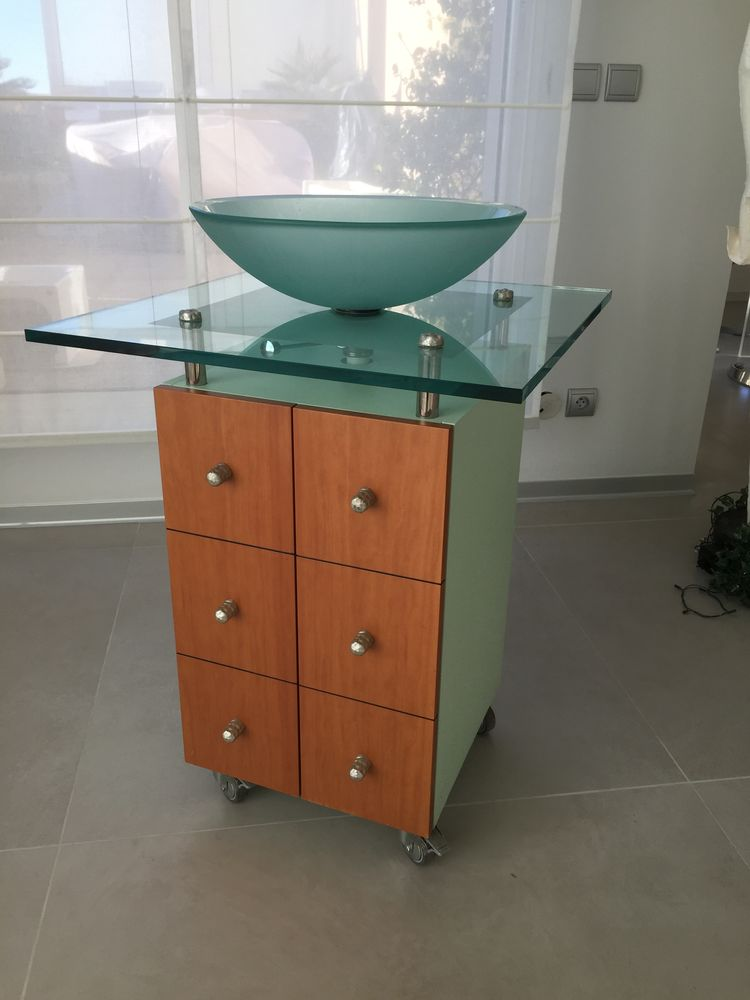 Lavabo avec vasque en verre 100 Marseille 5 (13)