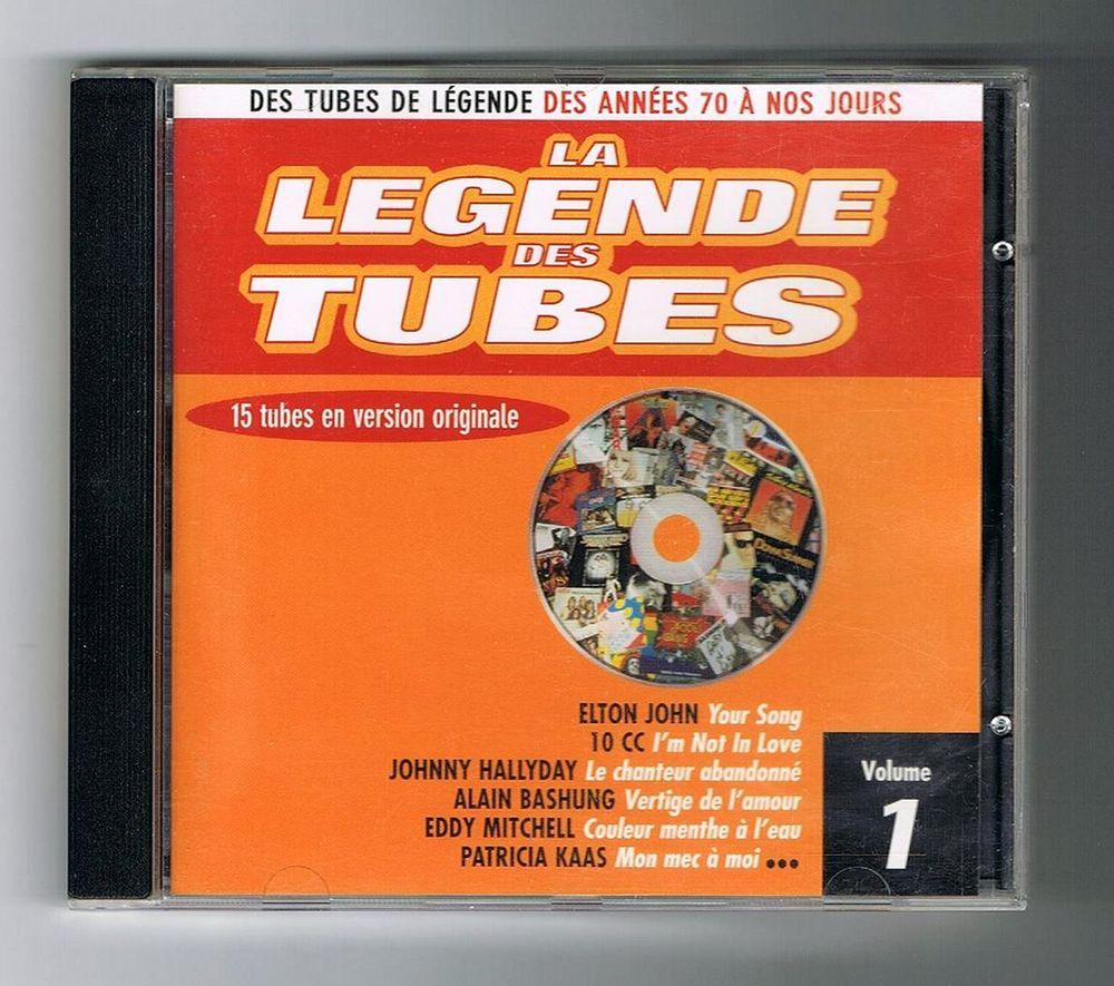 LA LÉGENDE DES TUBES - CD Vol 1- J. HALLYDAY-E. JOHN-BASHUNG 4 Tourcoing (59)