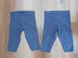 Lot de 2 leggings courts bleu marine fille 4 ans TBE