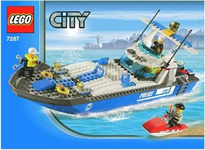 lego city bateau de police 7287 jeux jouets - Lego City Bateau
