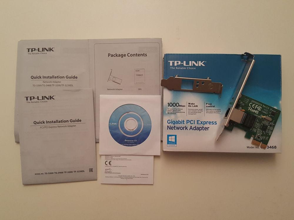 TP-LINK TG-3468 GIGABIT PCI-e CARTE RESEAU 10/100/1000Mbps Matériel informatique