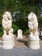Lion en pierre, grand modèle