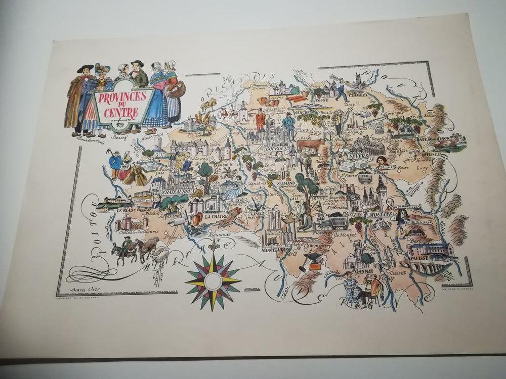 Liozu jacques lithographie provinces du centre 30 Wizernes (62)