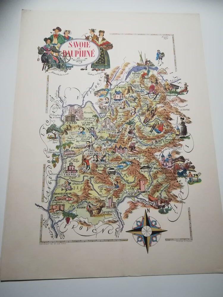 LIOZU jacques lithographie  savoie et dauphiné 30 Wizernes (62)