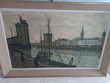 Lithographie de Bernard Buffet : Port La Rochelle, signé.
