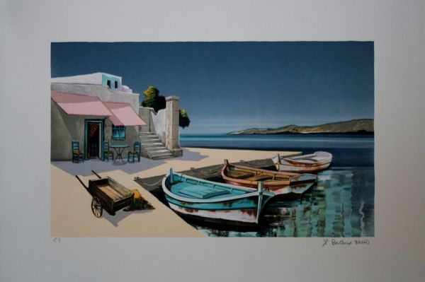 Lithographie de JP Bertaux-Marais 100 Portes (30)