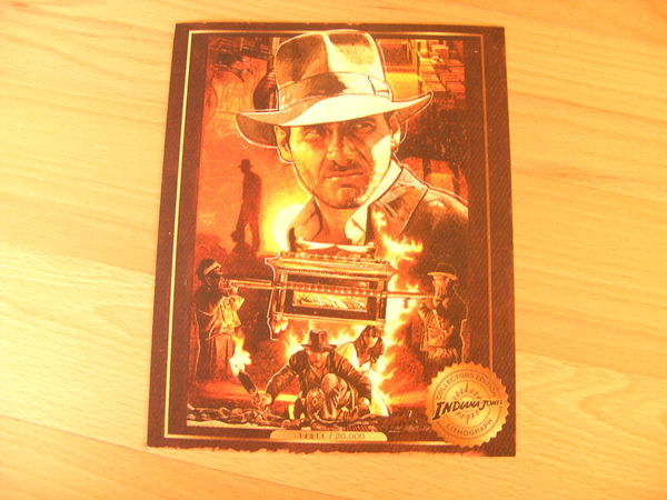 Lithographie Collector Neuve  Indiana Jones  20 Ardoix (07)