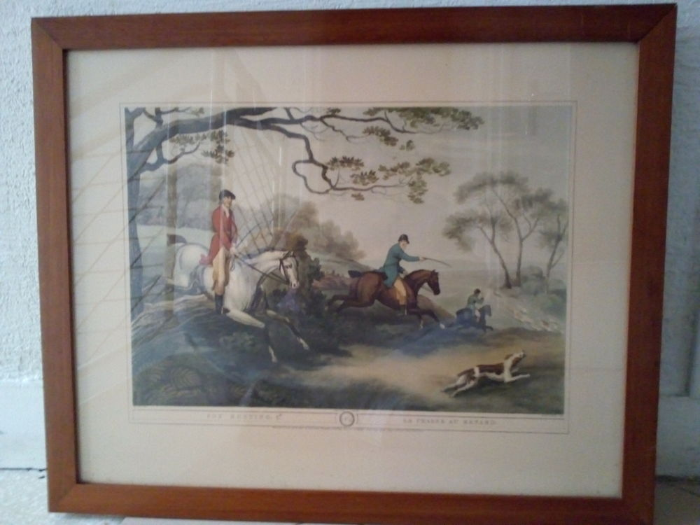 Lithographie fox hunting n° 4 la chasse au renard du XIXe 190 Savigny-sur-Orge (91)