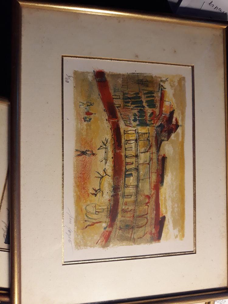 Lithographie de Jean Joyet 0 Margency (95)