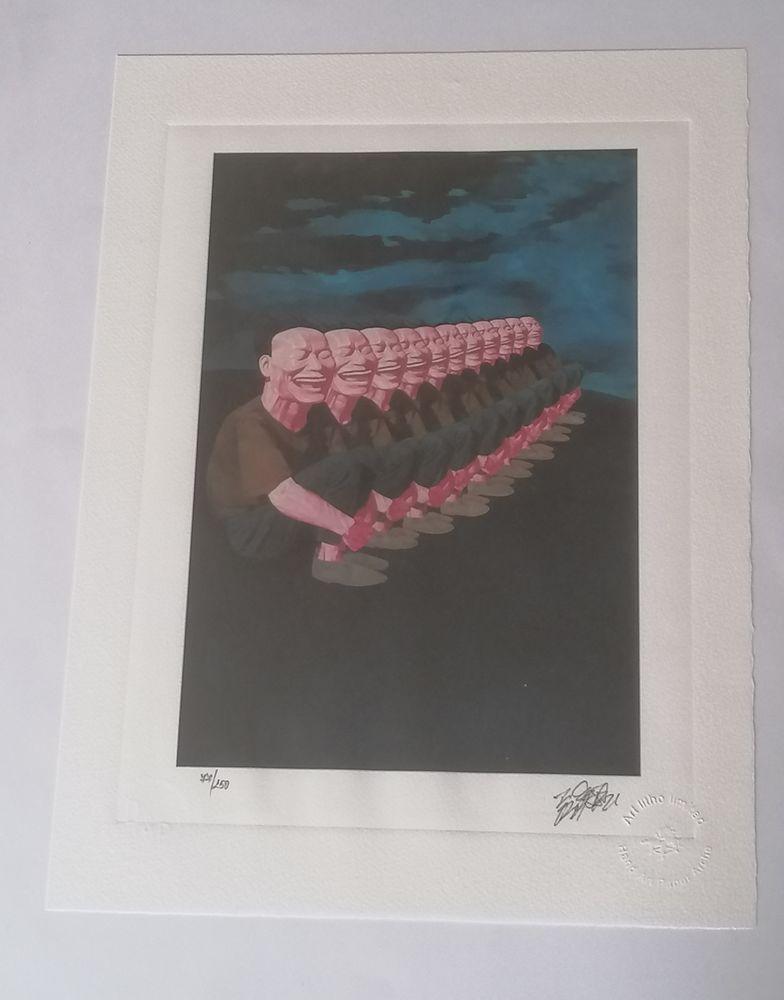 Lithographie Yue Minjun 1997 signée et numérotée  2000000 Saint-Hilaire-de-Riez (85)