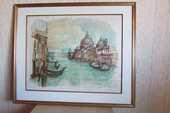 Lithographie originale de Venise par Jean Pradel  250 Paris 15 (75)