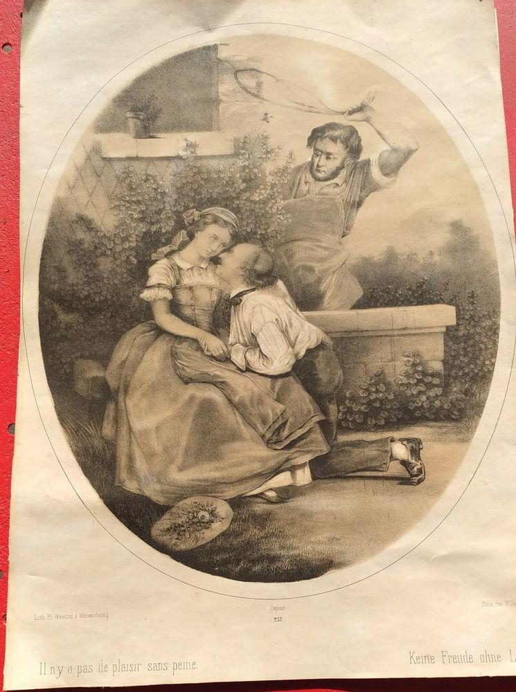 lithographie wentzel numéro 237 30 Wattignies (59)