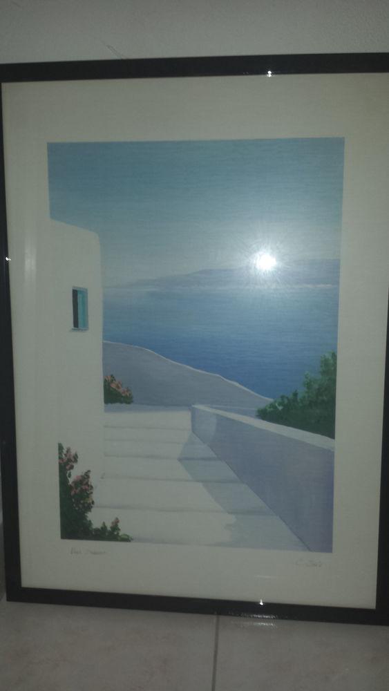 2 litographies paysages grecs Décoration
