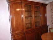 LIVING bibliothèque style Louis XVI merisier à 2 corps  2380 Champs-sur-Marne (77)