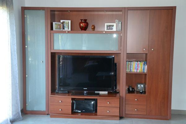living meuble tv bois et verre tbe meubles