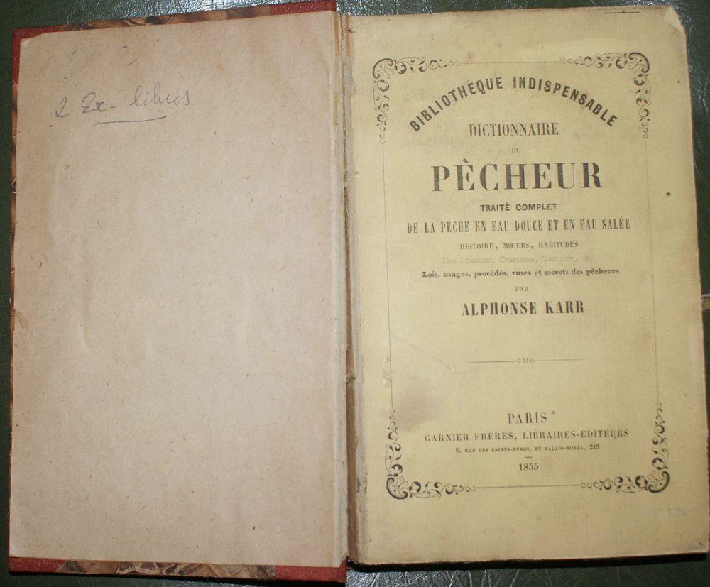 livre ancien de 1855 sur la pêche 50 Montcy-Notre-Dame (08)