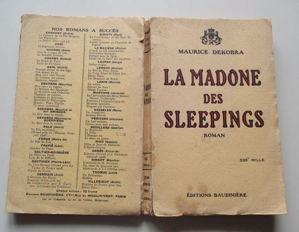 LIVRE ANCIEN DE 1925 LA MADONE DES SLEEPINGS 6 Saint-André-les-Vergers (10)