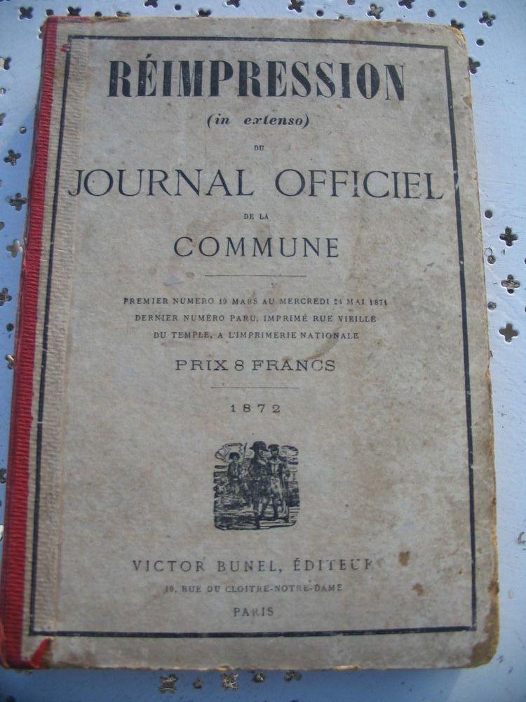livre ancien JOURNAL OFFICIEL DE LA COMMUNE 50 Istres (13)