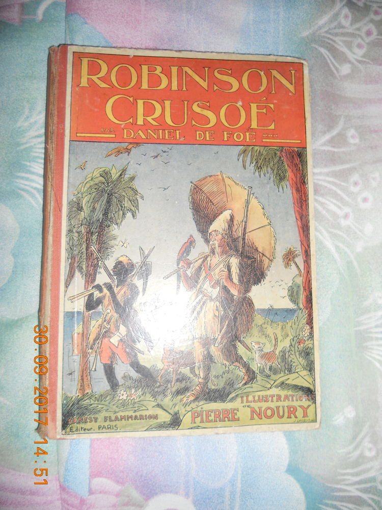livre ancien ROBINSON CRUSOE 4 Ervy-le-Châtel (10)