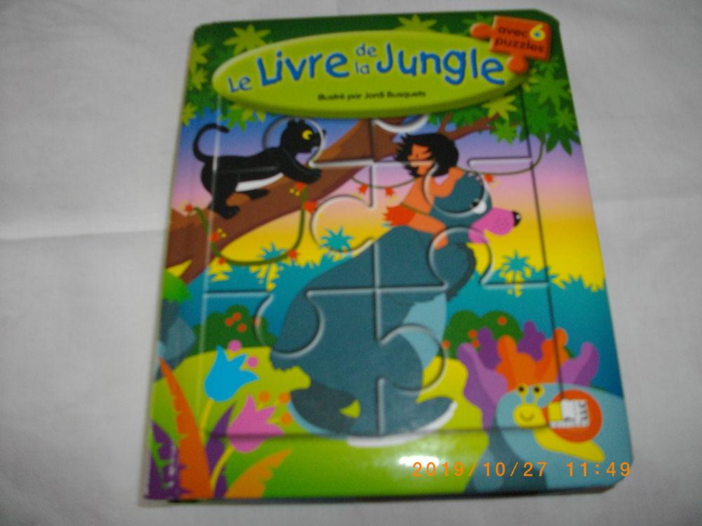 LIVRE AVEC PUZZLES DE :  LE LIVRE DE LA JUNGLE  POUR ENFANT 5 Perros-Guirec (22)