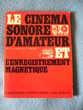 Livre: le cinéma d'amateur et l'enregistrement magnétique