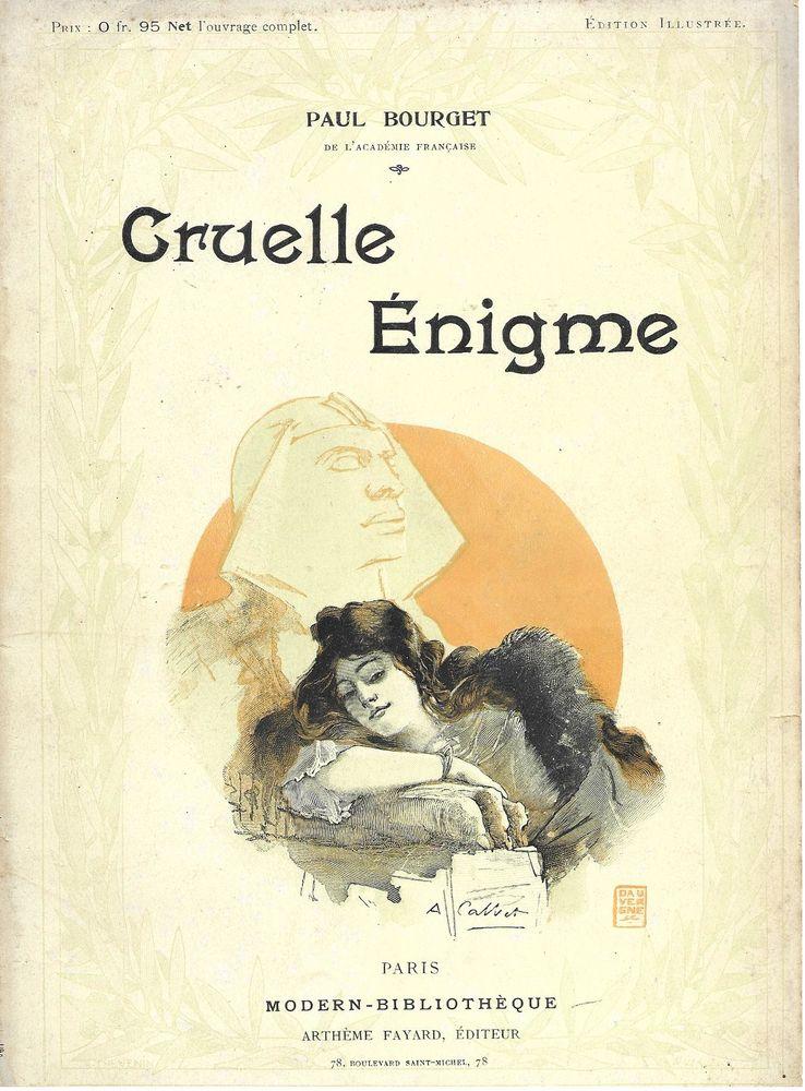 livre , Cruelle Enigme de Paul Bourget  18 Tours (37)