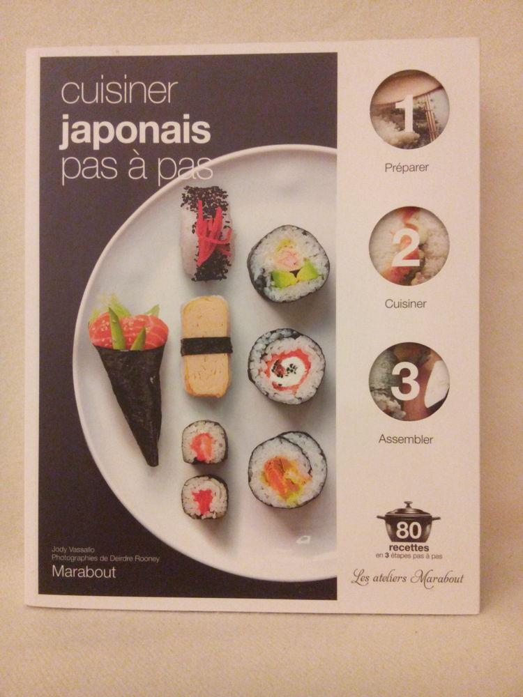 Livre de cuisine Cuisiner japonais pas à pas TBE 5 Châtillon (92)