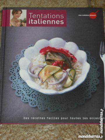 Livre cuisine Tentations italiennes   4 euros 4 Cramont (80)