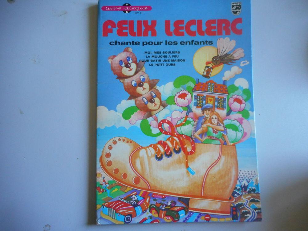"""Livre Disque vinyl 45t """"Felix Leclerc chante pour les enfant CD et vinyles"""