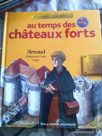 Livre enfants Au Temps des Chateaux forts 4 Angers (49)
