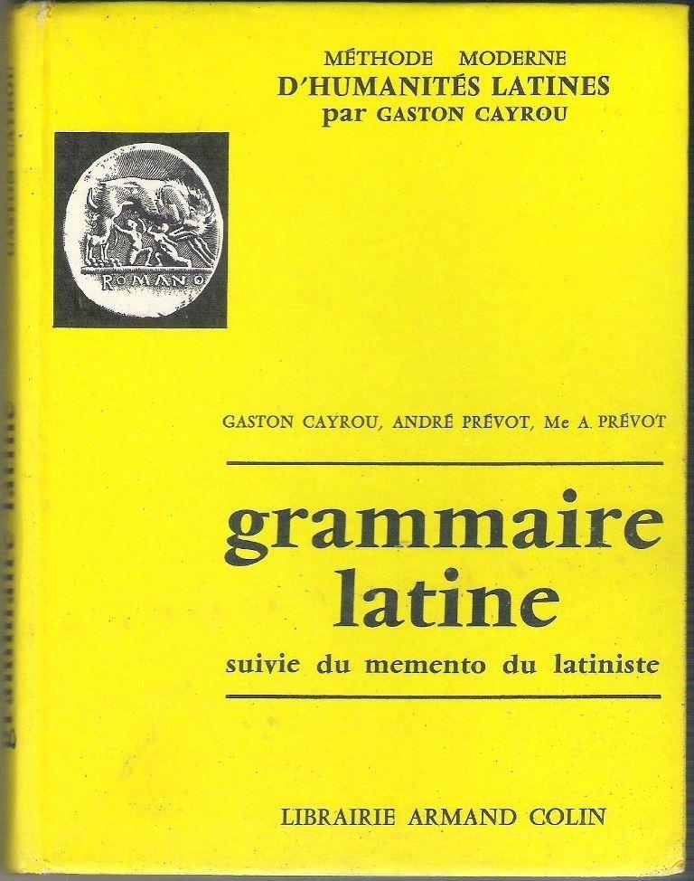 Livre de grammaire latine (Gaston Cayrou) 3 Balma (31)