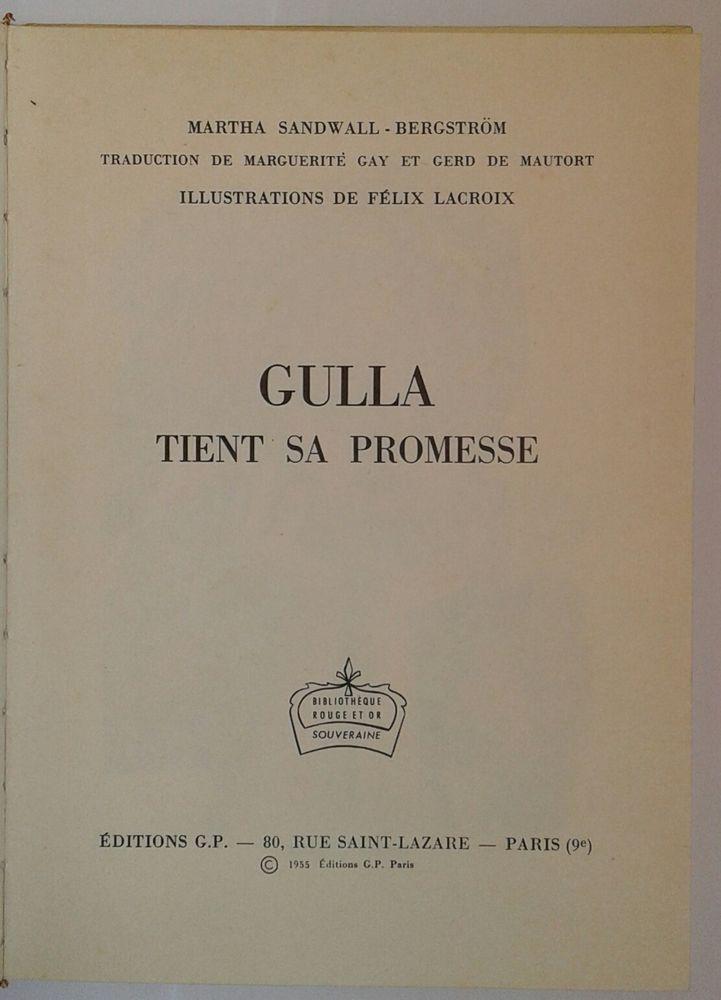 """Livre """"Gulla tient sa promesse"""" Livres et BD"""
