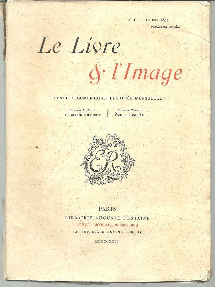 LE LIVRE ET L'IMAGE n° 16 du 10 juin 1894 (2e année) 5 Montauban (82)