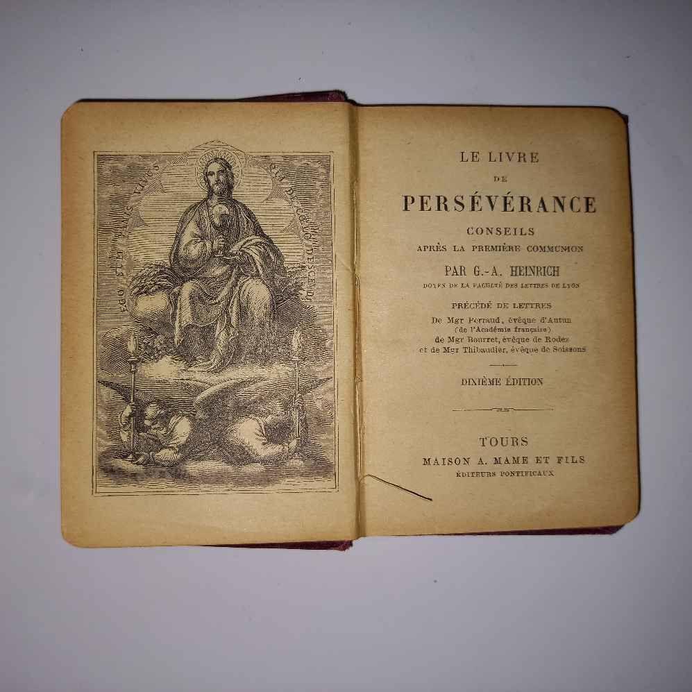 Le livre de la persévérance, conseil après la première commu 14 Saumur (49)