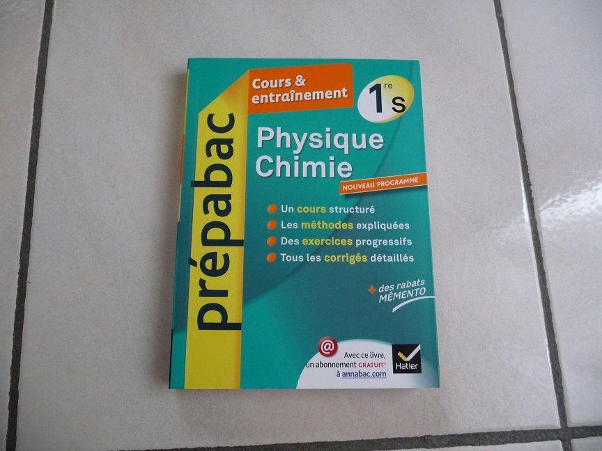 Livre PHYSIQUE CHIMIE PREPABAC 1ère S - ARTICLE NEUF 12 Montigny-le-Bretonneux (78)