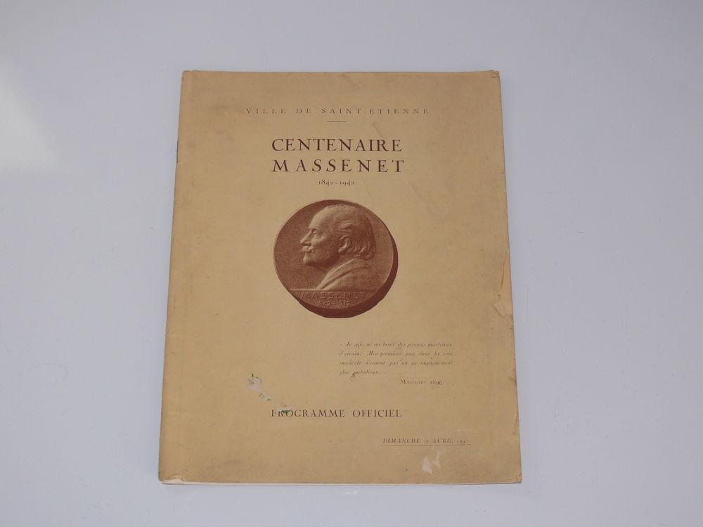 Livre : Programme centenaire Massenet 10 Saintes (17)