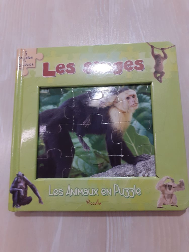 Livre Puzzle  Les Singes  à 3,50€ : 5 puzzles de 12 pièces  4 La Ferté-Alais (91)