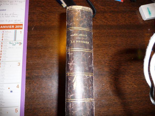 Livre rare le progres edmond about 1864 30 Pontault-Combault (77)