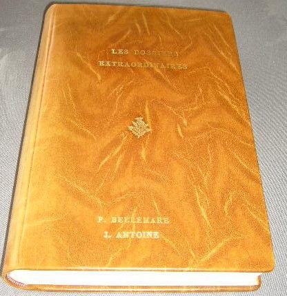 livre relié cuir etat neuf et caracteres or: les dossiers ex 35 Versailles (78)