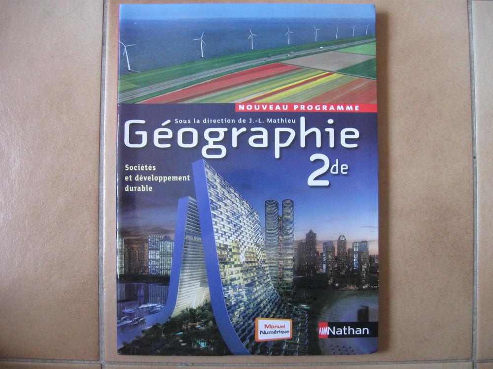 Livre scolaire Geographie 2e grand format 1 Mouans-Sartoux (06)