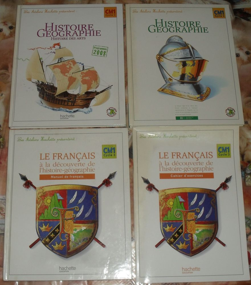 3 livres+1cahie exercice collection: Les Ateliers Hachette  20 Montreuil (93)