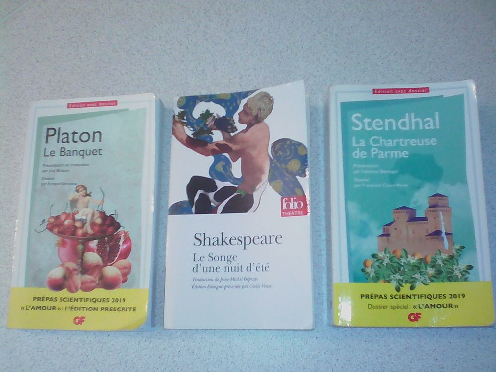 3 livres sur l'Amour de SHAKESPEARE STENDHAL PLATON Miroton 3 Tournefeuille (31)