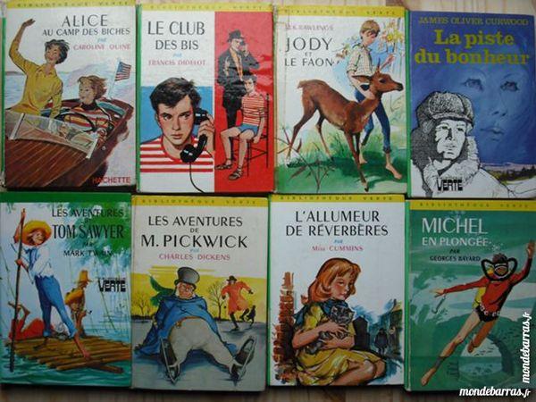livres bibliothèque verte   1 euro 1 Cramont (80)